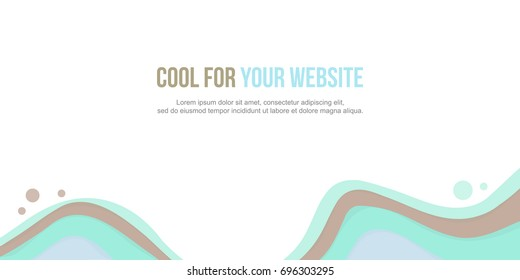 Abstract background header website green wave