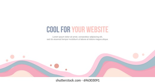 Abstract background header website wave design