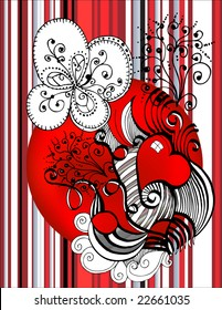 abstract background with heart