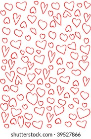 abstract background from hearts. vector illustration.  In the gallery also available XXL jpeg image made from vector