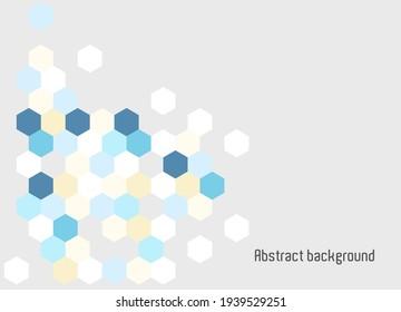Abstraktes Hintergrundhexagon für Geschäftsvorführungen