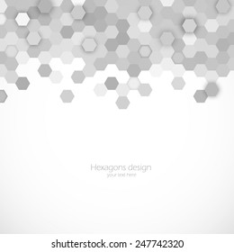 Abstract background with hexagons pattern design template