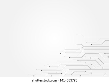 Abstract background with High-tech technology texture circuit board texture.Electronic motherboard illustration.Vector illustration.