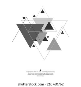 Abstract background with hipster triangles.