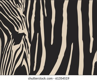 abstract background illustration with a zebra