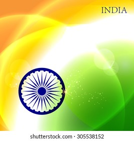 Abstract background of Indian flag