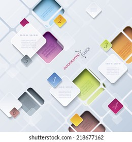 Abstract background infographics can be used for web design, presentation, workflow, layout, diagram, number options