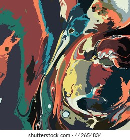 Abstract background. Ink marble texture.