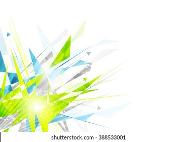 Abstract background with irregular polygon pattern, arrows and place for your content/vector illustration.