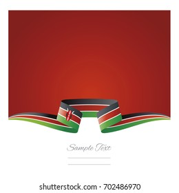 Abstract background Kenya flag ribbon