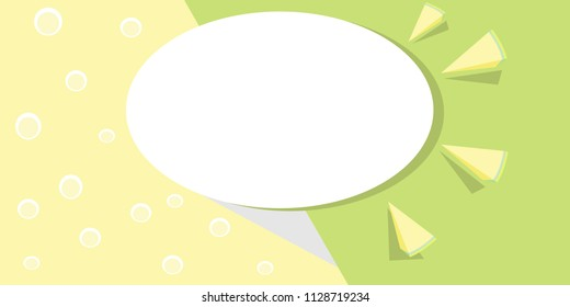 Abstract background for labels, banner and flyers. Lemonade and lemon. Vector illustration.