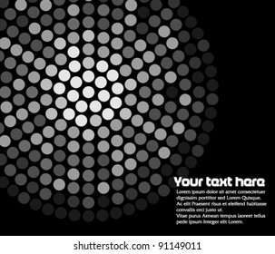 Abstract background with led lights in circle