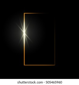 Abstract background with light behind the door, vector illustration