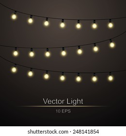 Abstract background with lights bright garlands