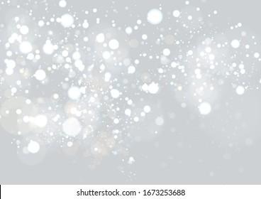 抽象的な背景に光と星