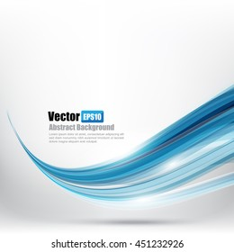 Abstract background Ligth blue curve and wave element vector illustration eps10