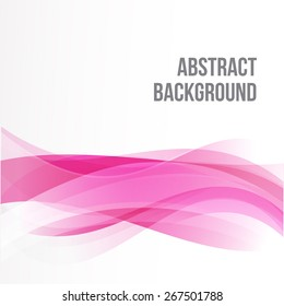 Abstract background Ligth pink curve and wave element vector illustration