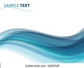 abstract background like ocean waves, vector illustration