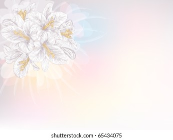 abstract background with lilies