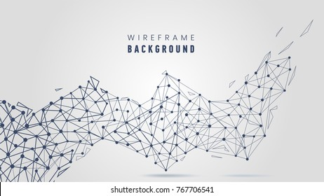 Abstract background with lines and dots connections