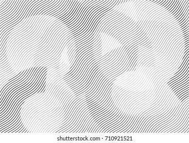 Abstract background with lines of variable thickness. Halftone effect line pattern.  Grunge modern pop art texture for poster, banner, sites, business cards, cover, postcard, design, labels, stickers