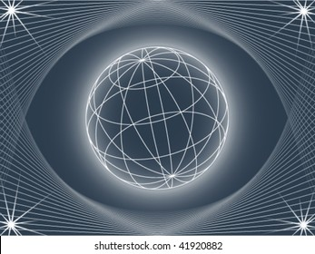 abstract background looking like globe, vector illustration