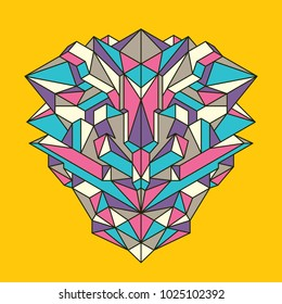 Abstract background made of geometric objects in color. Modern style composition. Vector illustration.