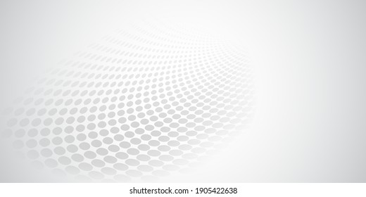 Abstract background made of halftone dots in white and gray colors
