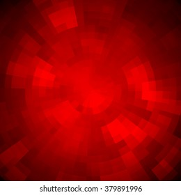 Abstract background made of shiny mosaic pattern. Disco style.  For design party flyer, leaflet and nightclub poster. Red color