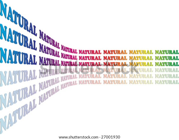 Abstract background made of word natural