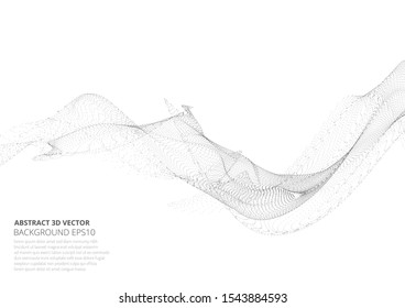 Abstract background with many particles. Optical illusion of movement. Technological design.
