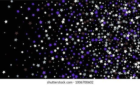 Abstract Background with Many Random Falling Stars Confetti on Background. Invitation Background. Banner, Greeting Card, Christmas and New Year card, Postcard, Packaging, Textile Print