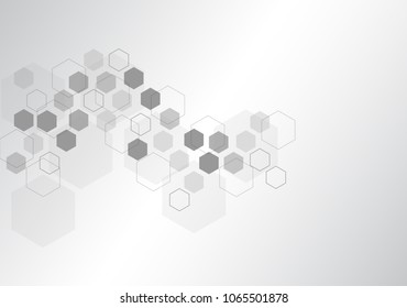 Abstract background medical substance and molecules. Vector illustration background.