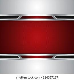 Abstract background, metallic red brochure, vector