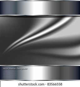 Abstract background, metallic silver grey, vector.