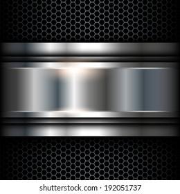 Abstract background metallic, vector shiny illustration.