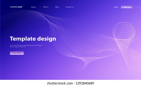 Abstract background modern design. Landing Page. Template for websites or apps.Vector. - Vector
