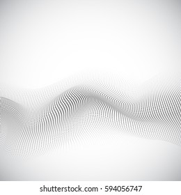 Abstract background with modern dots design