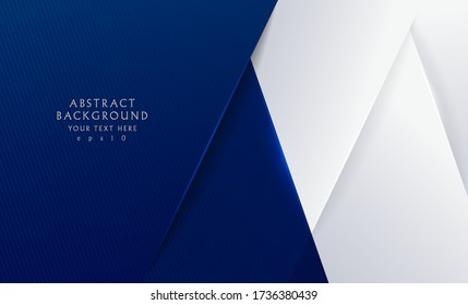 Abstract background modern futuristic graphic. Dark blue background with stripes. banner white and grey background. Paper cut style. Vector illustration.