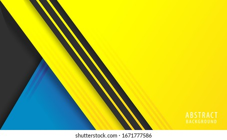 Abstract background modern graphic. Yellow, blue and black background with stripes. Vector abstract background texture design, bright poster, banner background Vector