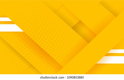 Abstract background modern hipster futuristic graphic and white stripes. Yellow background with texture and white stripes. Vector illustration.