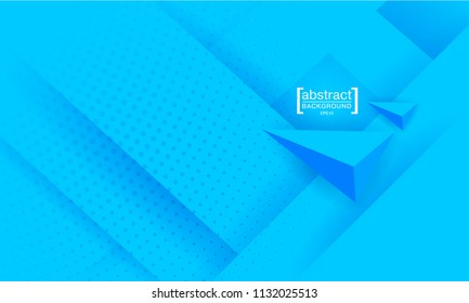 Abstract background modern hipster futuristic graphic. Blue bright background with texture. Vector illustration.