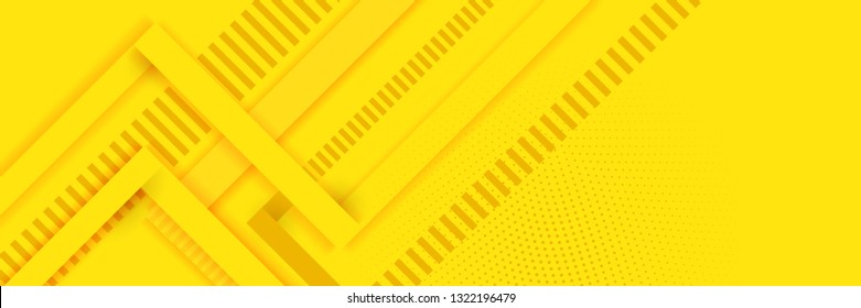 Abstract background modern hipster futuristic graphic. Yellow background with white stripes. Total yellow abstract serene background, different shades. Vector illustration.