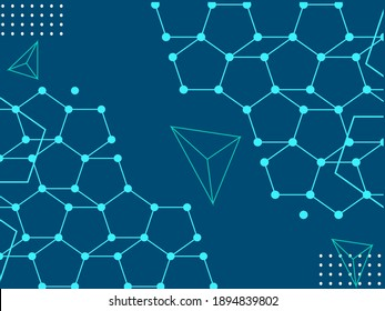 Abstract background modern hipster, futuristic graphic in the form of a network of connections between designs. Vector abstract background texture design, bright poster, colorful banner, certificate
