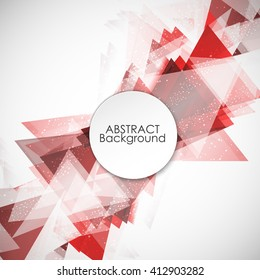 Abstract background with modern red triangle.