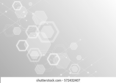 Abstract background of the molecules. The hexagonal structure of chemistry. Molecular studies. The molecular structure of the hexagonal lattice. background