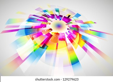 Abstract Background multicolor vector design