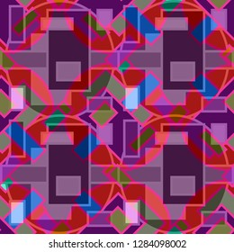 Abstract background multicolored cube geometric seamless pattern.