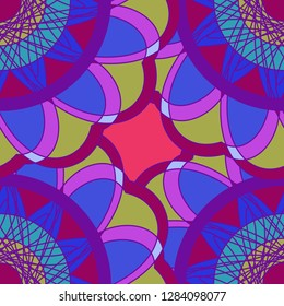 Abstract background multicolored geometric seamless pattern.