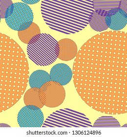 Abstract background - multicolored trend seamless pattern.